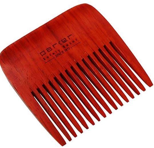 custom beard comb: Parker's Premium Rosewood Wide Tooth Beard Comb