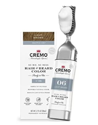 beard dye: Cremo No Mix No Mess Hair and Beard Color