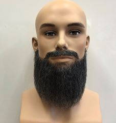Beard extensions: Beard and Mustache Combination