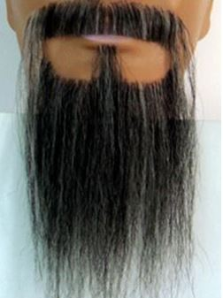 beard extensions: Confucius Beard and Mustache