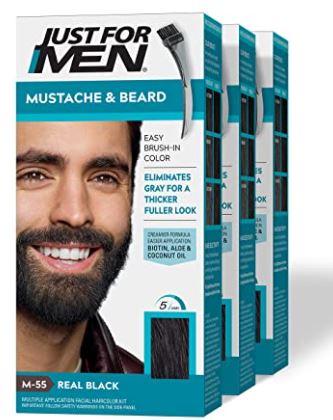 Beard gel: Just for Men Brush in Color Gel For Mustache and Beard