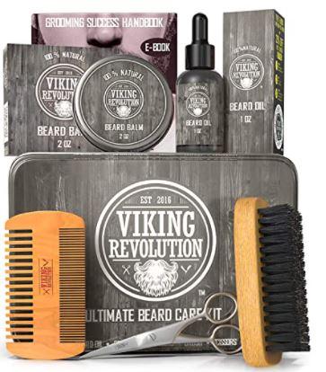 beard grooming kit: Viking Revolution Beard Care Kit for Men