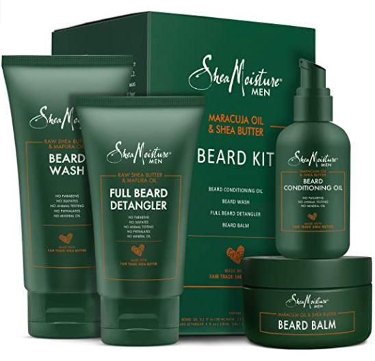 beard grooming kit: Shea Moisture Complete Beard Kit