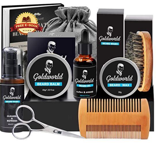 beard grooming kit: Goldworld Beard Grooming Kit