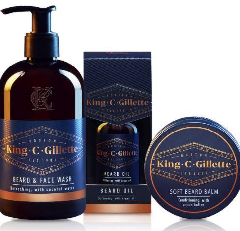 beard grooming kits: King C. Gillette Beard Care Kit
