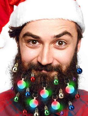 beard lights: Beard Fairy Lights Ornaments Glitter Kit