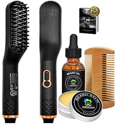 beard relaxer: Beard Straightener w/Beard Balm & Beard Growth Oil