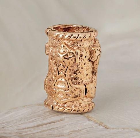 Beard rings: Mjolnir Beard Ring -Bronze