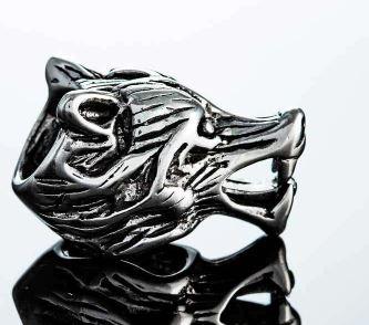 beard rings: Northern Viking Jewelry-Beard Ring Wolf Head