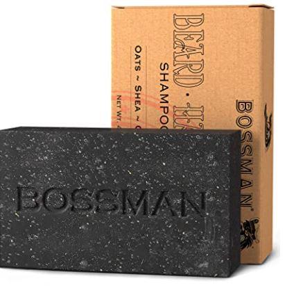beard soap: Bossman Men's Bar Soap