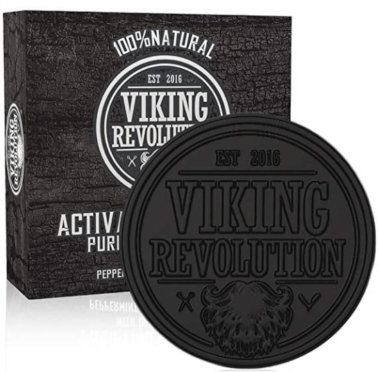 beard soap: Viking Revolution Activated Charcoal Soap