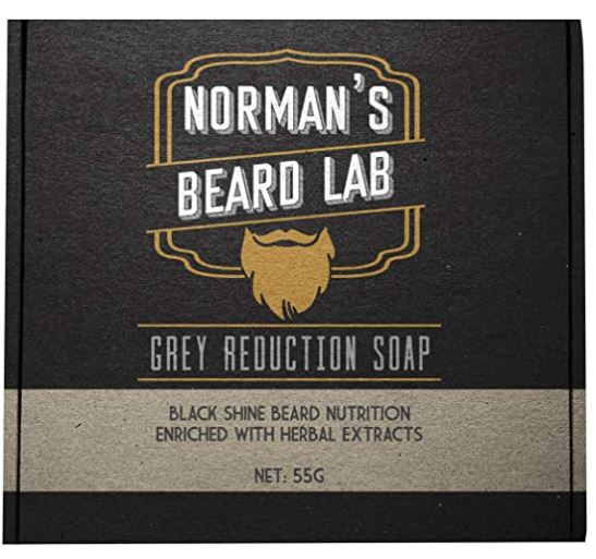 beard soap: The Official Brand, Norman's Beard Lab, Grey Reduction Soap