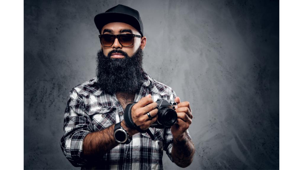 types of beards: curly beard