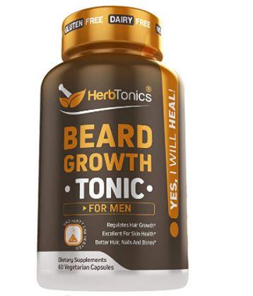 beard growth supplement: Herb Tonics Beard Growth Vitamins Supplement for Men