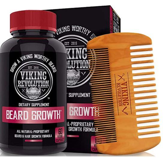beard growth supplement: Viking Revolution Men's Beard Growth Vitamin Supplement Tablets