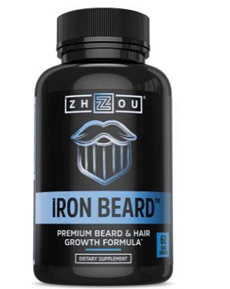 beard growth supplement: Zhou Iron Growth Vitamin Supplement for Men