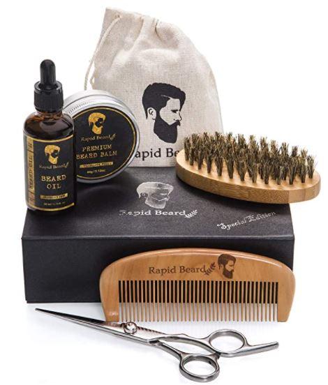 best beard kit: Rapid Beard Grooming & Trimming Kit for Men Care