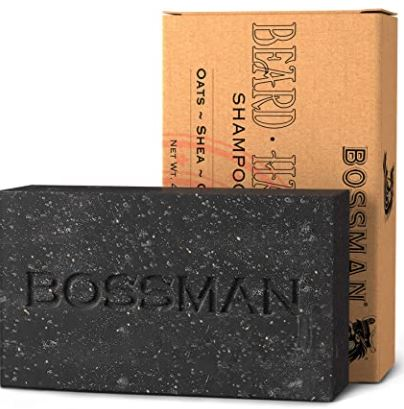 best beard products: Bossman Men's Bar Soap
